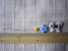 他の写真3: モンシロチョウの帯留めと青いお花の帯飾り