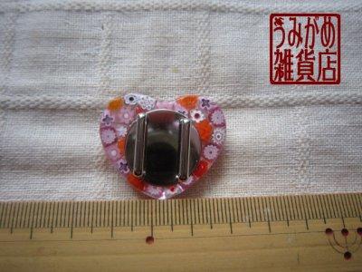 画像3: ヴェネチアンミルフィオリのハート帯留め(ピンク)