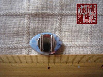 画像4: アーモンド形の帯留め(白&紫&銀色)*プチシリーズ