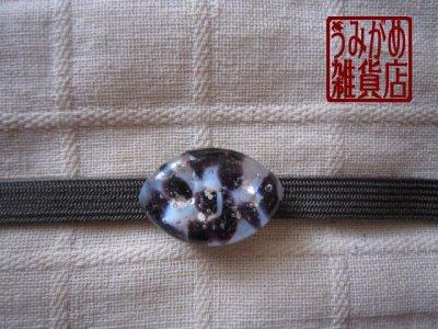 画像2: アーモンド形の帯留め(白&紫&銀色)*プチシリーズ