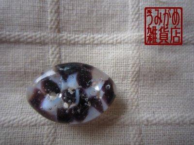 画像3: アーモンド形の帯留め(白&紫&銀色)*プチシリーズ
