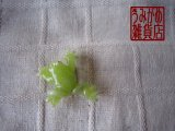 かえるの帯留め(小)黄緑*パート・ド・ヴェール