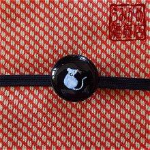 他の写真2: 小さな白ねずみの帯留め(黒)