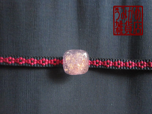 プチサイズの帯留め(紫ピンク系)