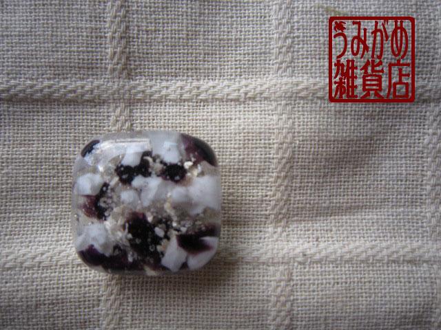 プチサイズの帯留め(濃紫&白系)