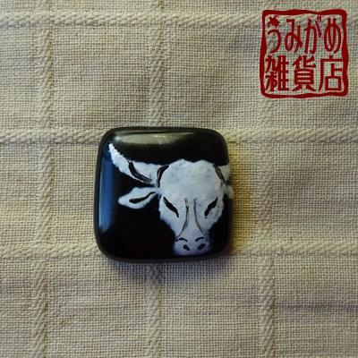 牛の帯留め